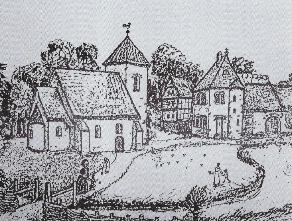 Kirchplatz Sünninghausen um 1460