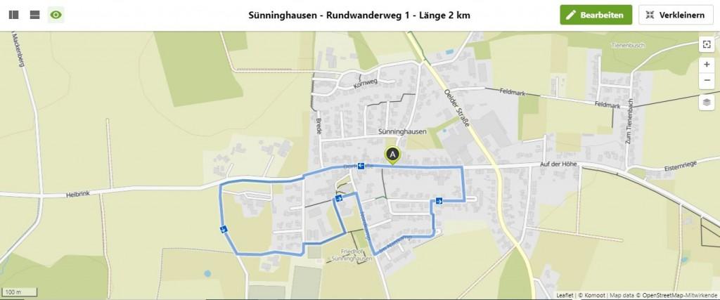 Sünninghausen - Rundwanderweg 1 - Länge 2.0 km