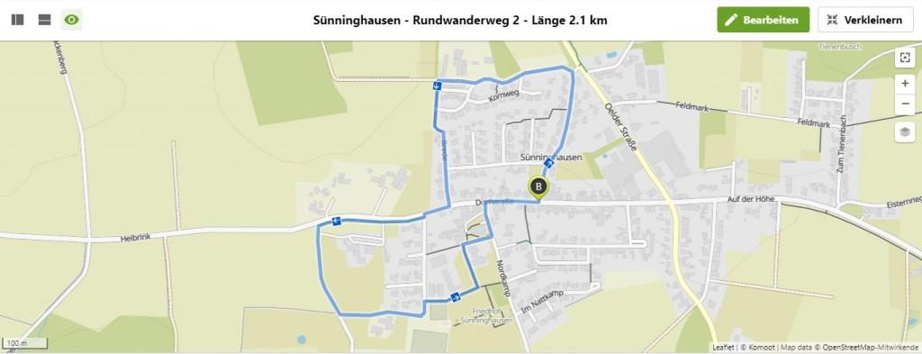 Sünninghausen - Rundwanderweg 2 - Länge 2.1 km