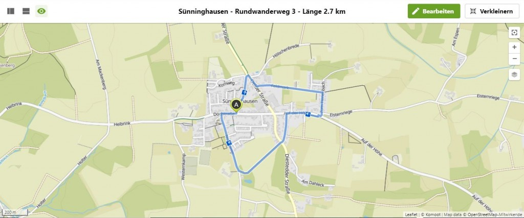 Sünninghausen - Rundwanderweg 3 - Länge 2.7 km