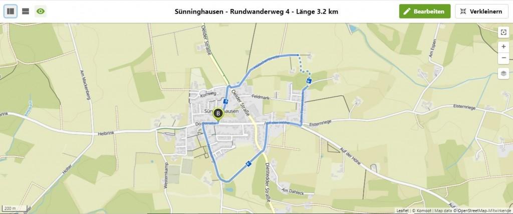 Sünninghausen - Rundwanderweg 4 - Länge 3.2 km