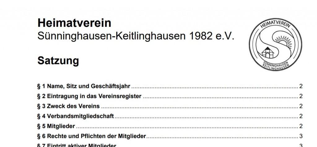 Satzung Heimatverein Screenshot