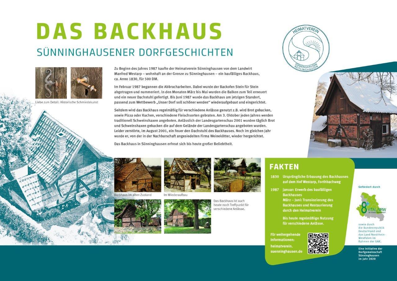 Infotafel Backhaus Sünninghausen