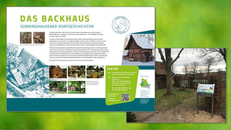 Infotafel Beispiel Backhaus