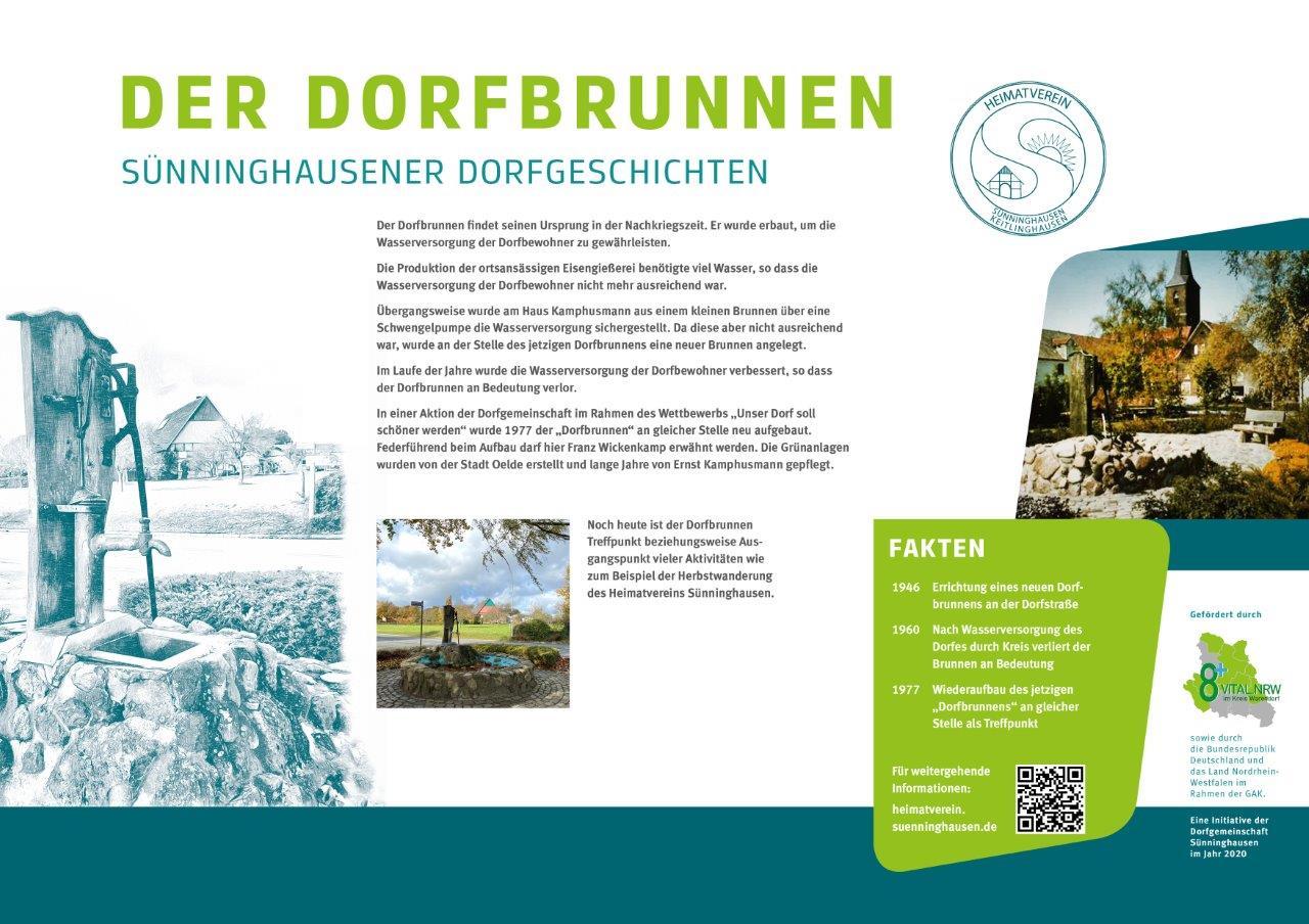 Infotafel Dorfbrunnen Sünninghausen