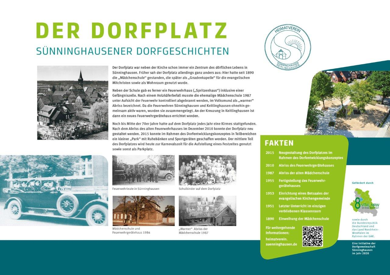Infotafel Dorfplatz Sünninghausen