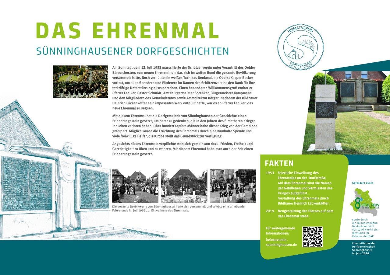 Infotafel Ehrenmal Sünninghausen