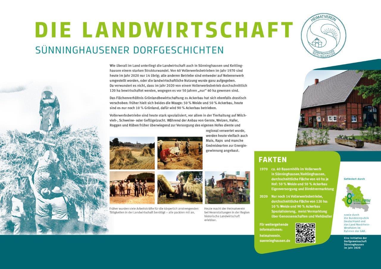 Infotafel Landwirtschaft Sünninghausen