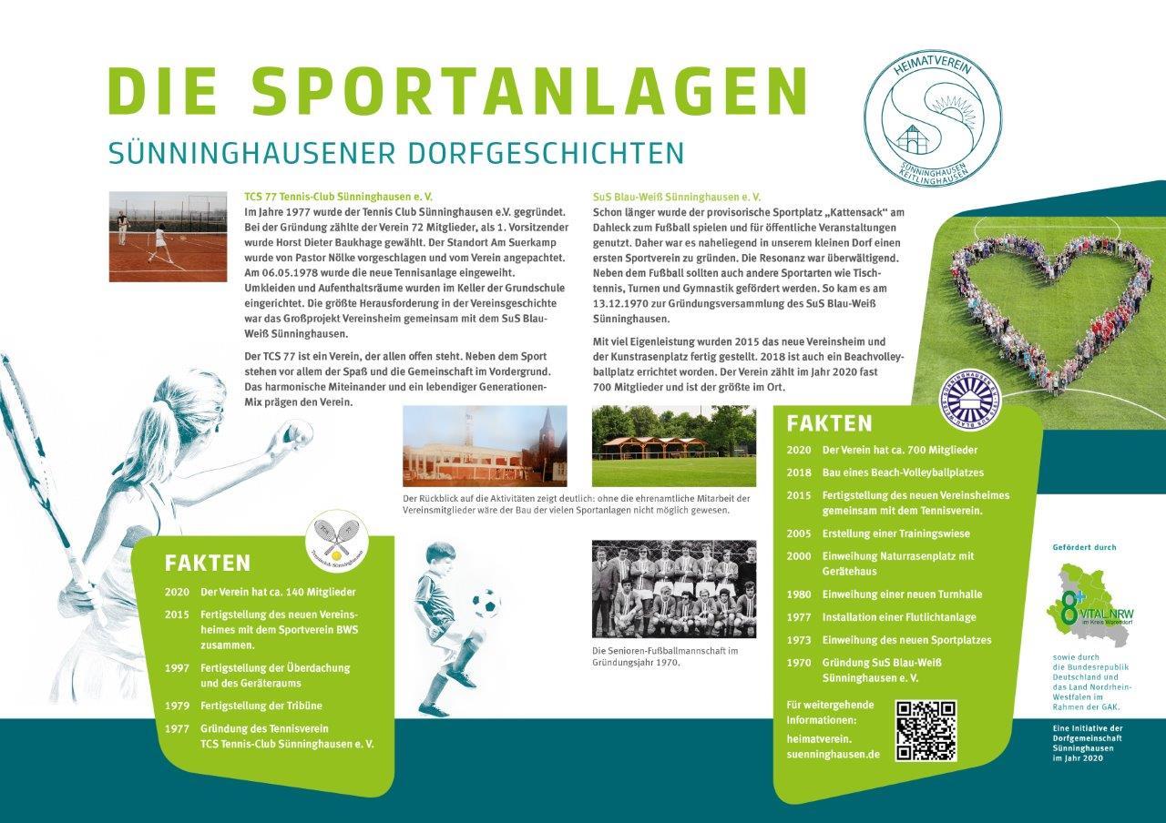 Infotafel Sportanlagen Sünninghausen