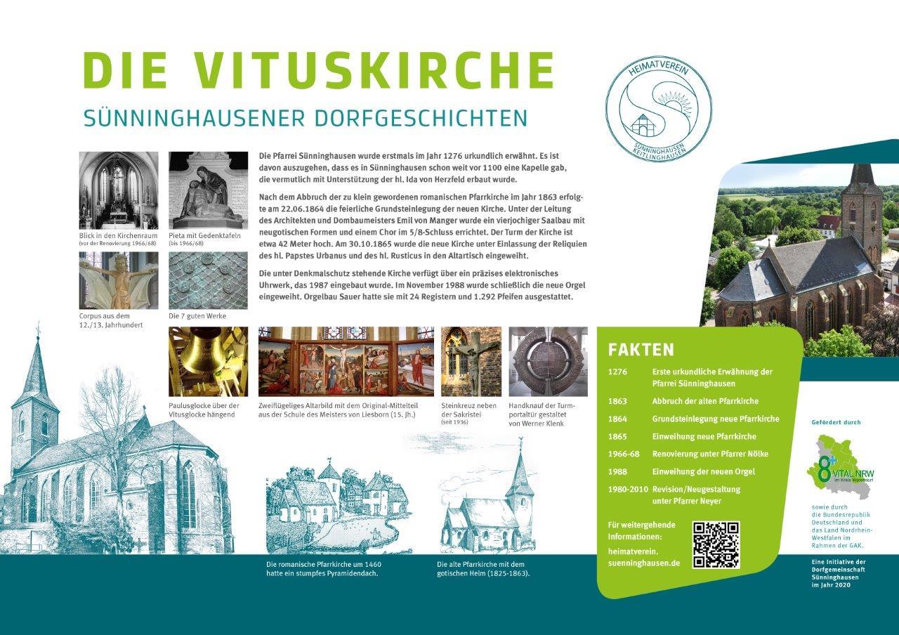 Infotafel Vituskirche Sünninghausen